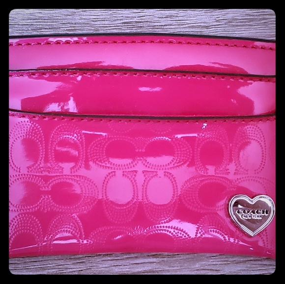 Coach Handbags - Hot pink Coach card holder